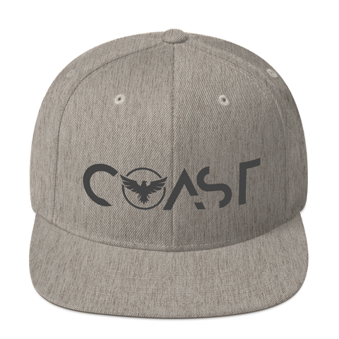 Find Your Coast Premium Adjustable Heather Grey Snapback Hat