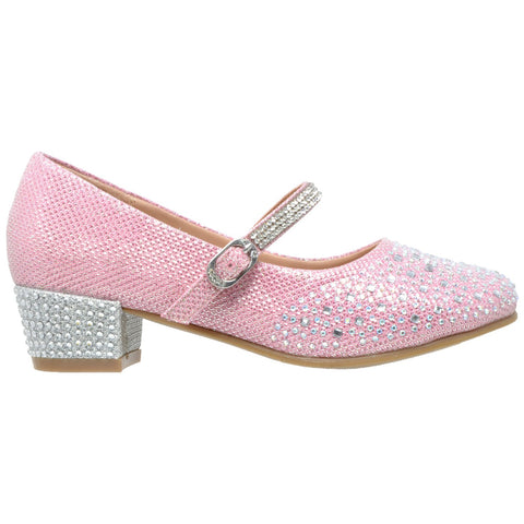Toddler & Youth Glitter Mary Jane Pump