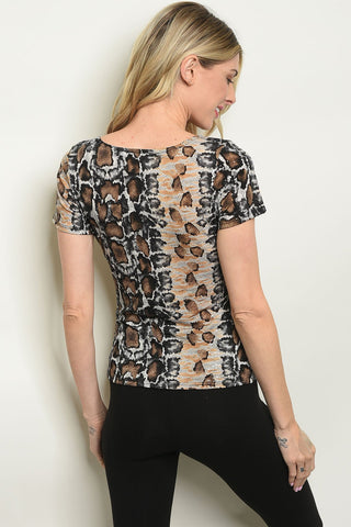 Womens Snake Animal Print Top