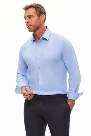 The Trotter Button Up  | Semi-Fitted | Big Sur Blue