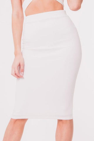 High Waist Solid Skirt