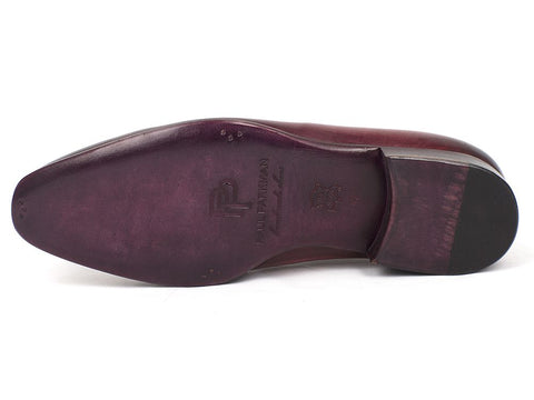 Paul Parkman Men's Burgundy Wholecut Plain Toe Oxfords (ID#DS65BUR)