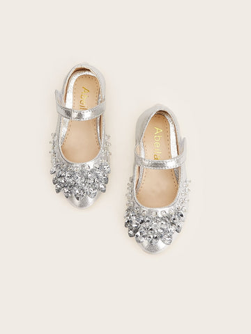 Toddler Rhinestone Decor Flats