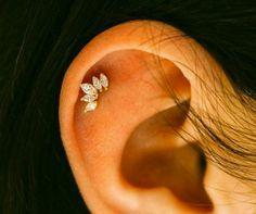 Royal Crystal Crown Cartilage Earring