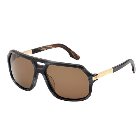 Hunter: Polished Double Horn - Gold / Bronze Polarized Lens