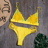 Women Hot & Sexy Flower Print Beachwear Bikini Set