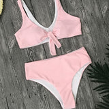 Women Solid New Tube Top Bikini Set Beachwear