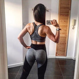 Latest Black Patchwork Ankle Length Gym Leggings