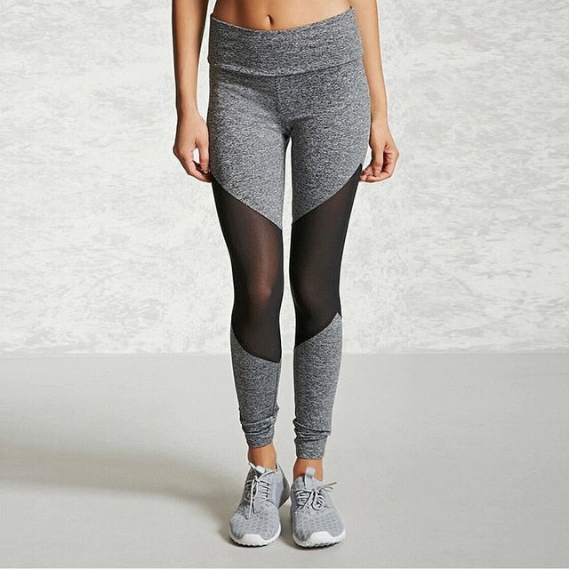 Casual Women Patchwork Ankle Length Leggings Fitness Yoga Pants