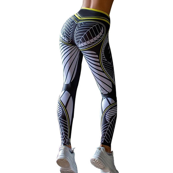 Sexy Print Ankle Length Fitness Gym Leggings