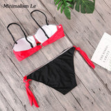 Hot Solid Patchwork Bikini Set For Women