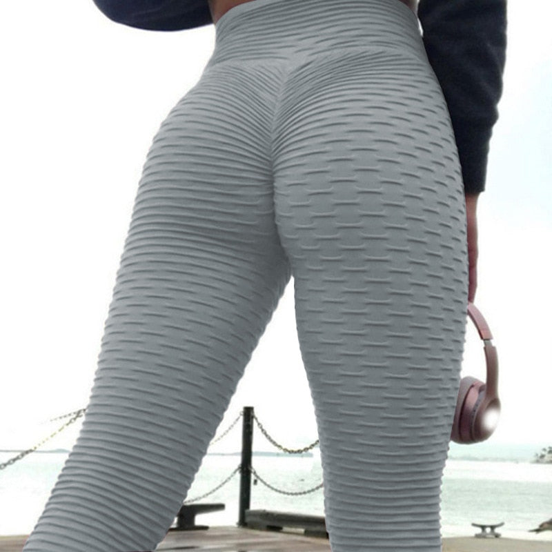 2020 Sexy Solid High Waist GymLeggings Push Up Yoga Pant Athletic Fitness Tights