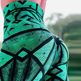 Latest Women High Waist Printed Push Sporty Gym Leggings