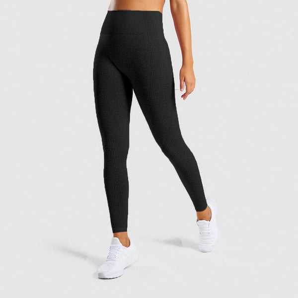 Women Solid High Waist Yoga Pant Seamless Fitness Gym Legging
