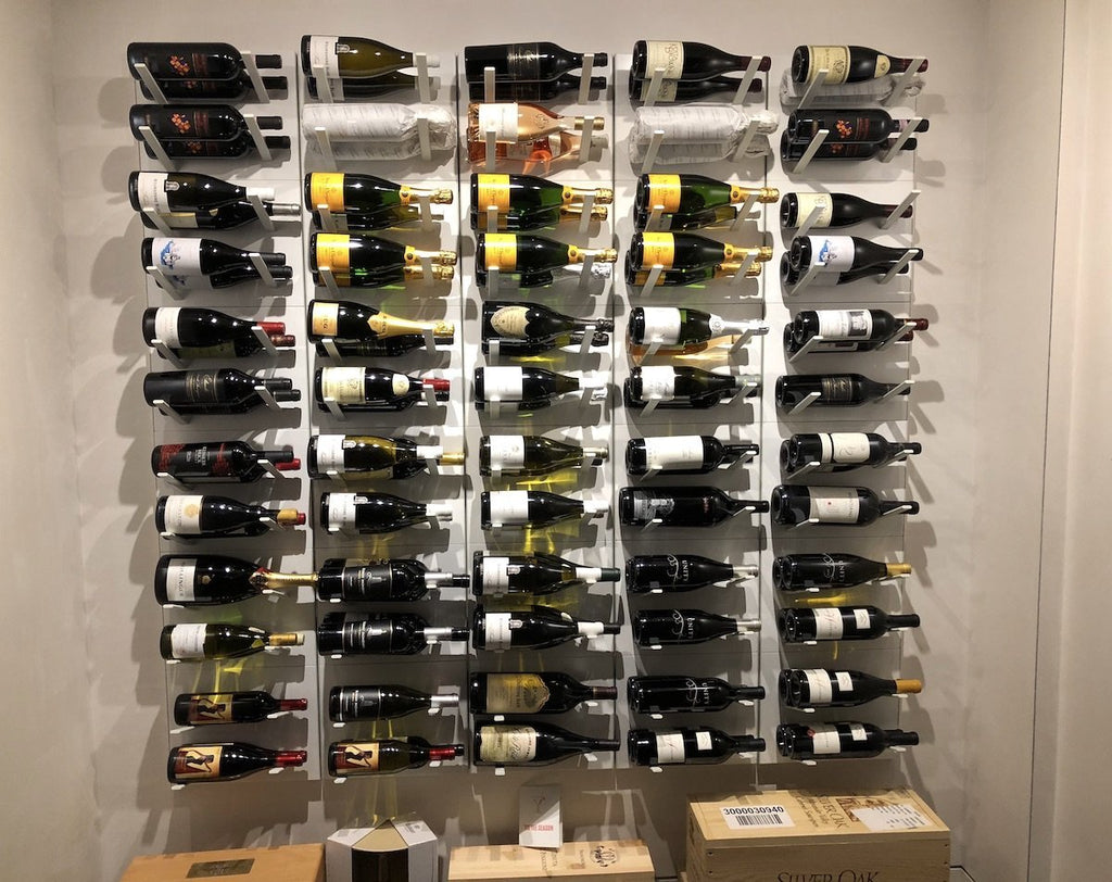label display wine cellar racking