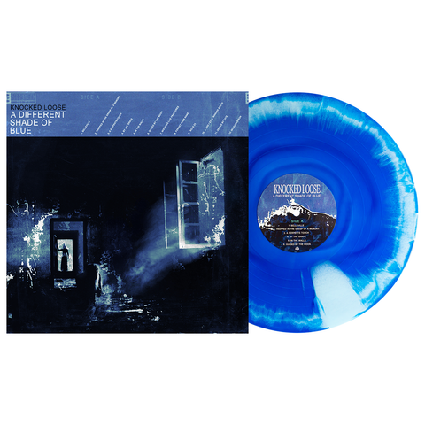 Knocked Loose 'A Different Shade of Blue' 3rd Pressing LP - Royal Blue & Baby Blue Aside/Bside