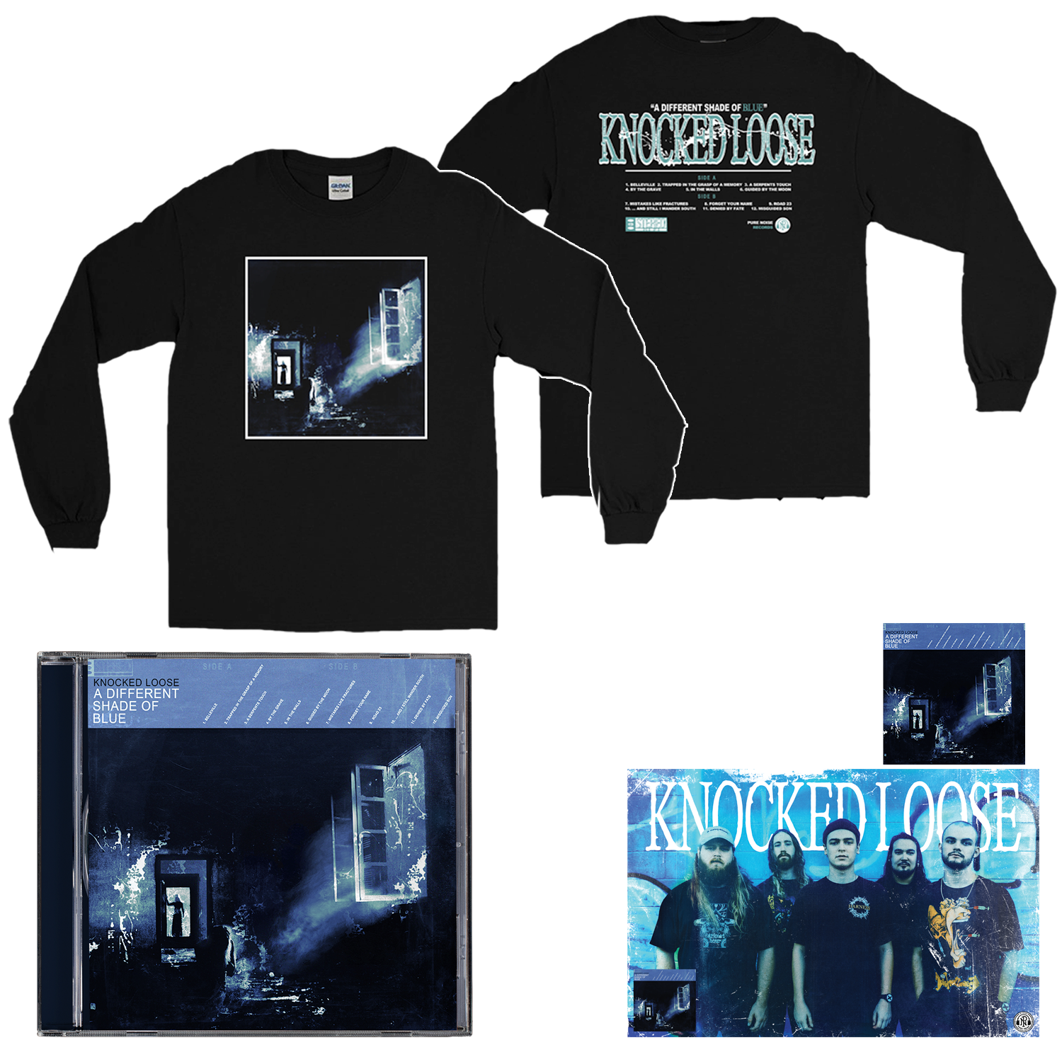 Knocked Loose 'A Different Shade of Blue' (CD + Long Sleeve + Poster + Sticker)
