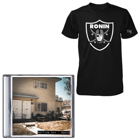 Rotting Out 'Ronin' CD + Black Tee Bundle