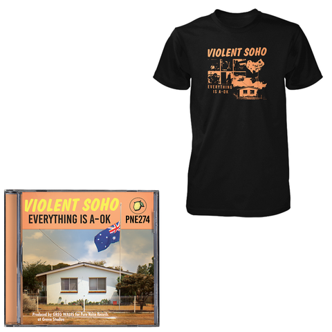 Violent Soho 'Everything is A-OK' CD + Black Tee Bundle