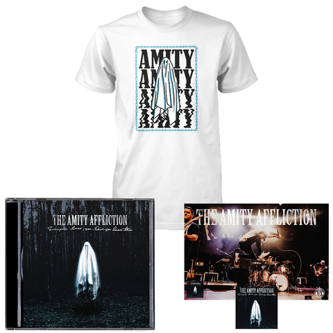 The Amity Affliction 'Everyone Loves You... Once You Leave Them' CD + Ghost T-Shirt (white) Bundle