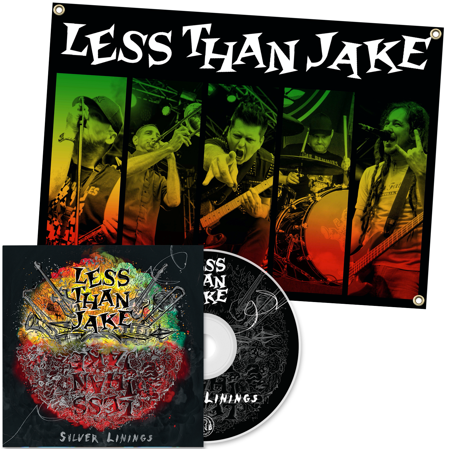 Less Than Jake 'Silver Linings' CD + Flag