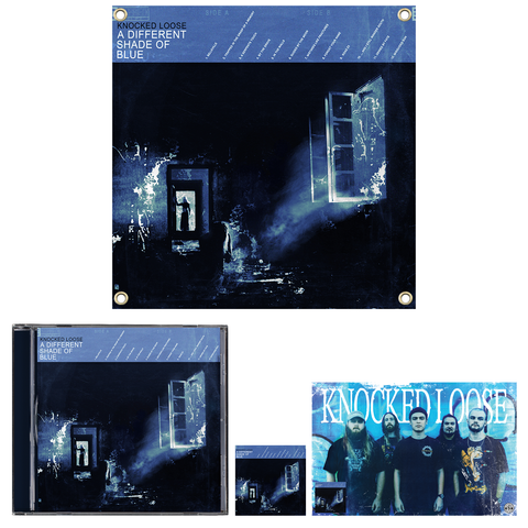 Knocked Loose 'A Different Shade of Blue' (CD + Flag + Poster + Sticker)
