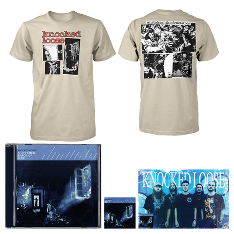 Knocked Loose 'A Different Shade of Blue' (CD + Shirt (tan) + Poster + Sticker)