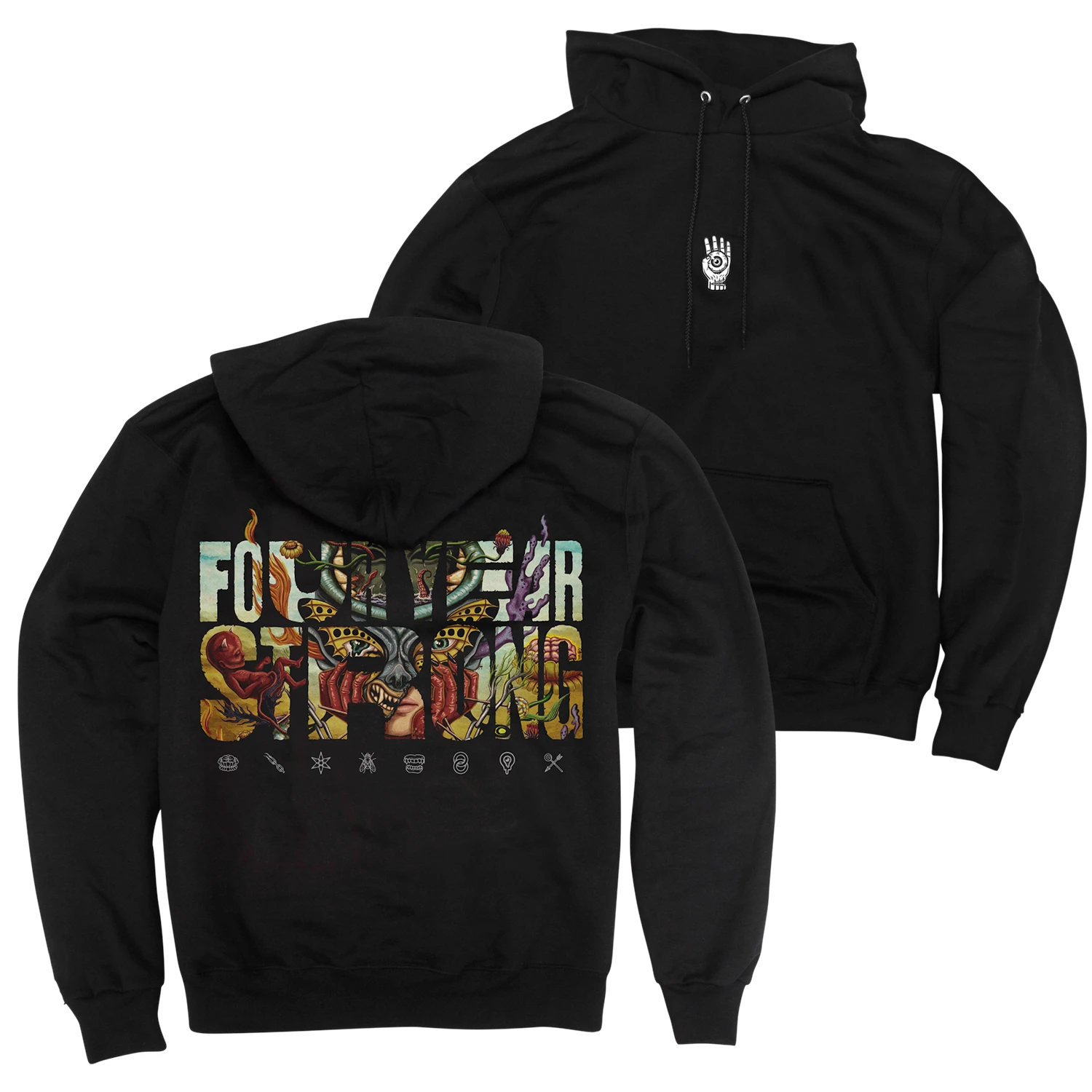 Four Year Strong 'Brain Pain' Black Hoodie