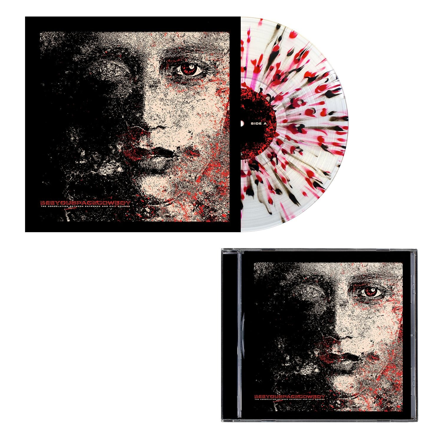 SeeYouSpaceCowboy 'The Correlation Between Entrance and Exit Wounds' CD + Various LP Bundle