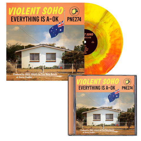 Violent Soho 'Everything is A-OK' CD + PN1 EX Bundle
