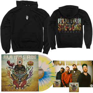 Four Year Strong 'Brain Pain' PN1 EX LP + Hoodie Bundle