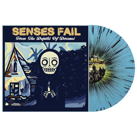 Senses Fail 'From The Depths of Dreams' PN Exclusive 1 LP Easter Yellow in Baby Blue & w/ Heavy Black Splatter