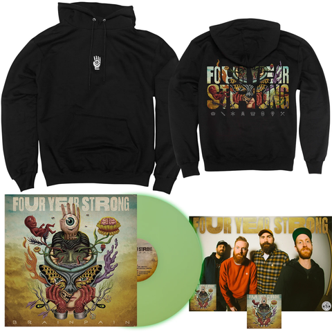 Four Year Strong 'Brain Pain' PN2 EX LP + Hoodie Bundle