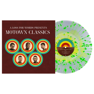 A Loss For Words 'Motown Classics' Various - Highlighter Yellow in Clear w/ Neon Green Splatter