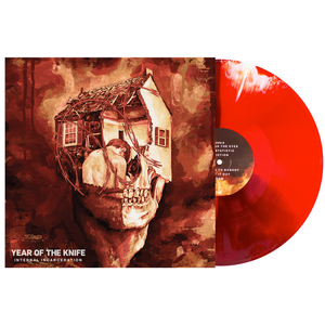 Year of the Knife 'Internal Incarceration' LP (PN2 - Blood Red w/ Oxblood and Bone twist)