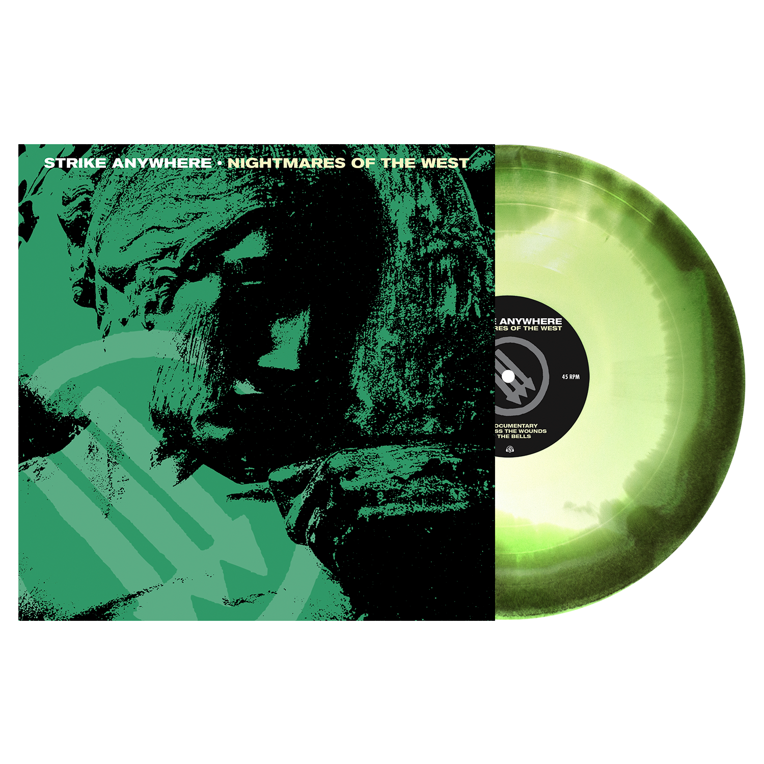 Strike Anywhere 'Nightmares of the West' LP (PN Webstore Exclusive 2 - Doublemint, Swamp Green, White Aside/Bside)