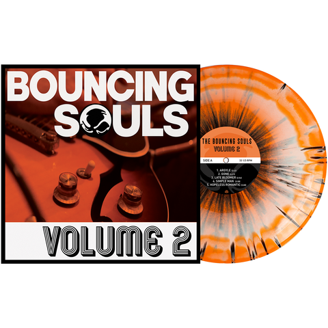 The Bouncing Souls 'Volume 2' PN Exclusive 2 - CWhite & #Halloween Orange Aside/Bside w/ Black Splatter