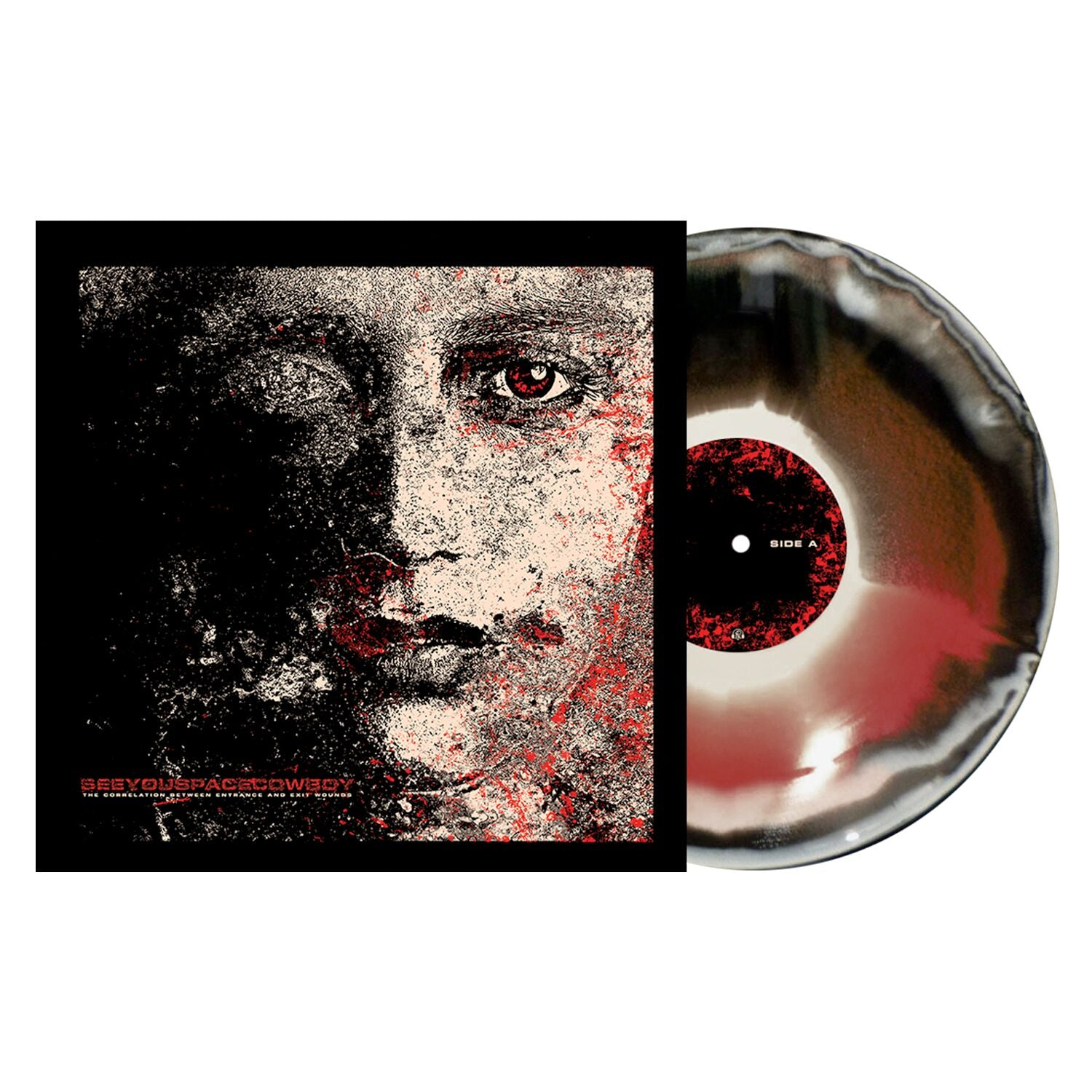 SeeYouSpaceCowboy 'The Correlation Between Entrance and Exit Wounds' PN Exclusive 1 - Black / Red'ish / Bone Aside-B-side