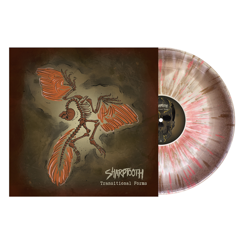 Sharptooth 'Transitional Forms' LP (PN Exclusive - Brown & Bone Aside / Bside w/ heavy Gold and Oxblood splatter)