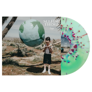 Selfish Things 'Logos' PN Exclusive - Electric Blue / Doublemint Aside/Bside with heavy White & Red(ish) Splatter