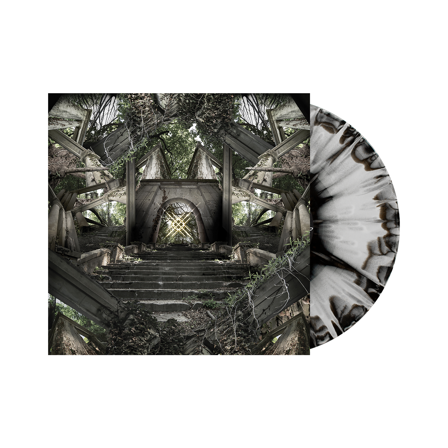 Moon Tooth 'Crux' LP Web Exclusive 1 (Black & White Aside / Aside w/ heavy silver splatter)