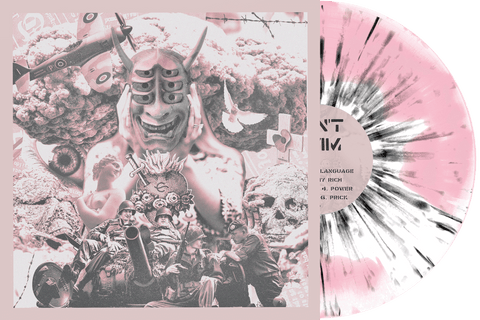 Can't Swim 'Foreign Language' PN 1 Webstore Exclusive - Baby Pink & White Aside/Bside w/ black splatter
