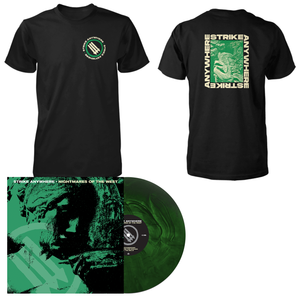 Strike Anywhere 'Nightmares of the West' LP (Various - Swamp Green and Doublemint Galaxy) + Black T-Shirt Bundle