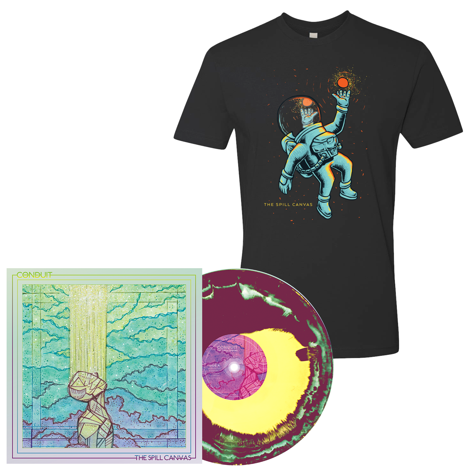 The Spill Canvas 'Conduit' PN2 Exclusive LP + Black T-Shirt Bundle