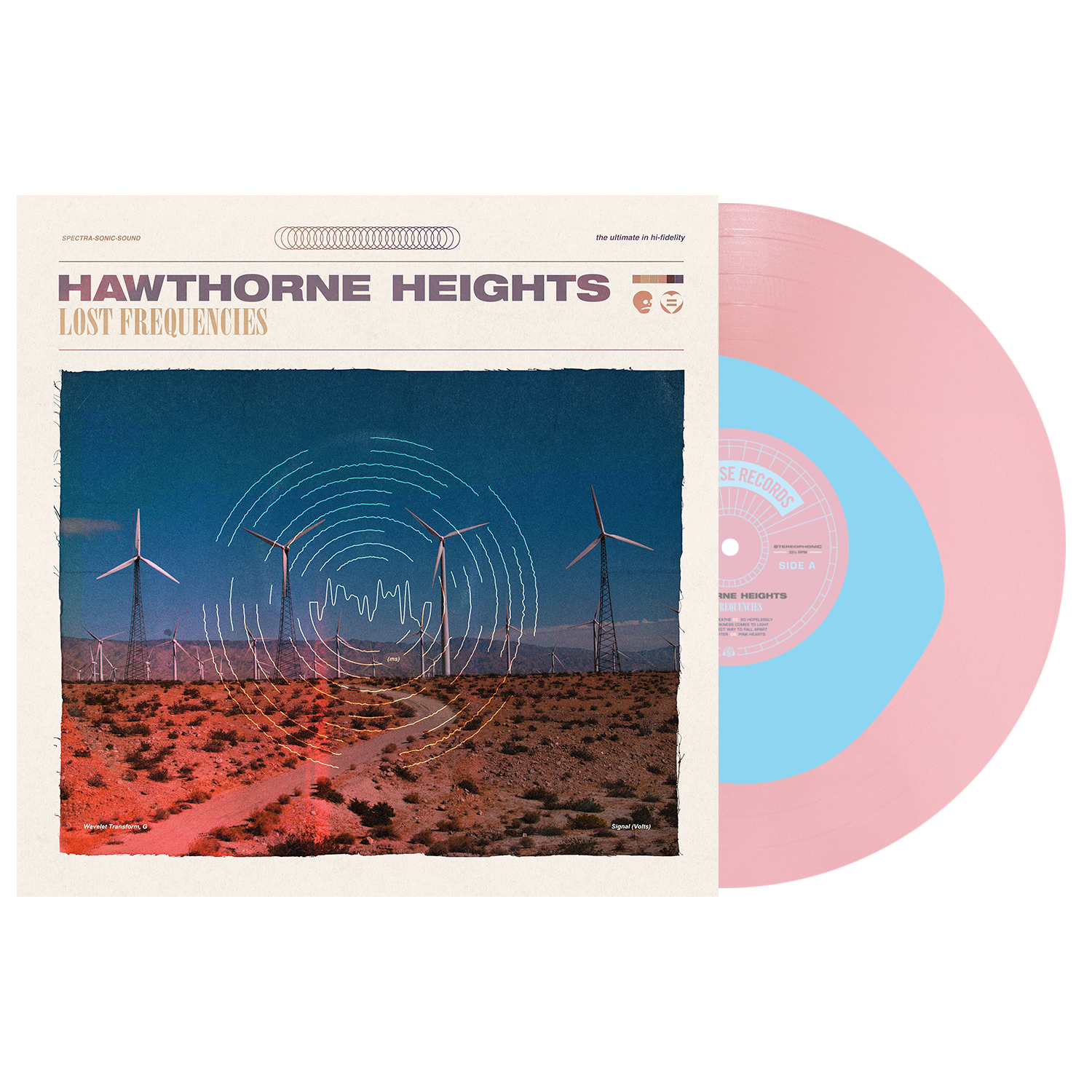 Hawthorne Heights 'Lost Frequencies' LP Var 2 (Baby Blue in Baby Pink Color in Color)