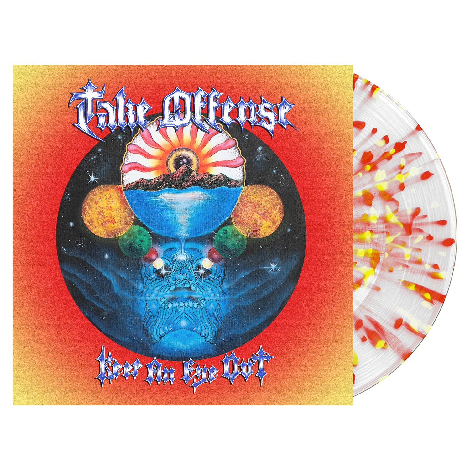 Take Offense 'Keep An Eye Out' Various LP - Clear w/ Heavy Blood Red & Yellow Splatter
