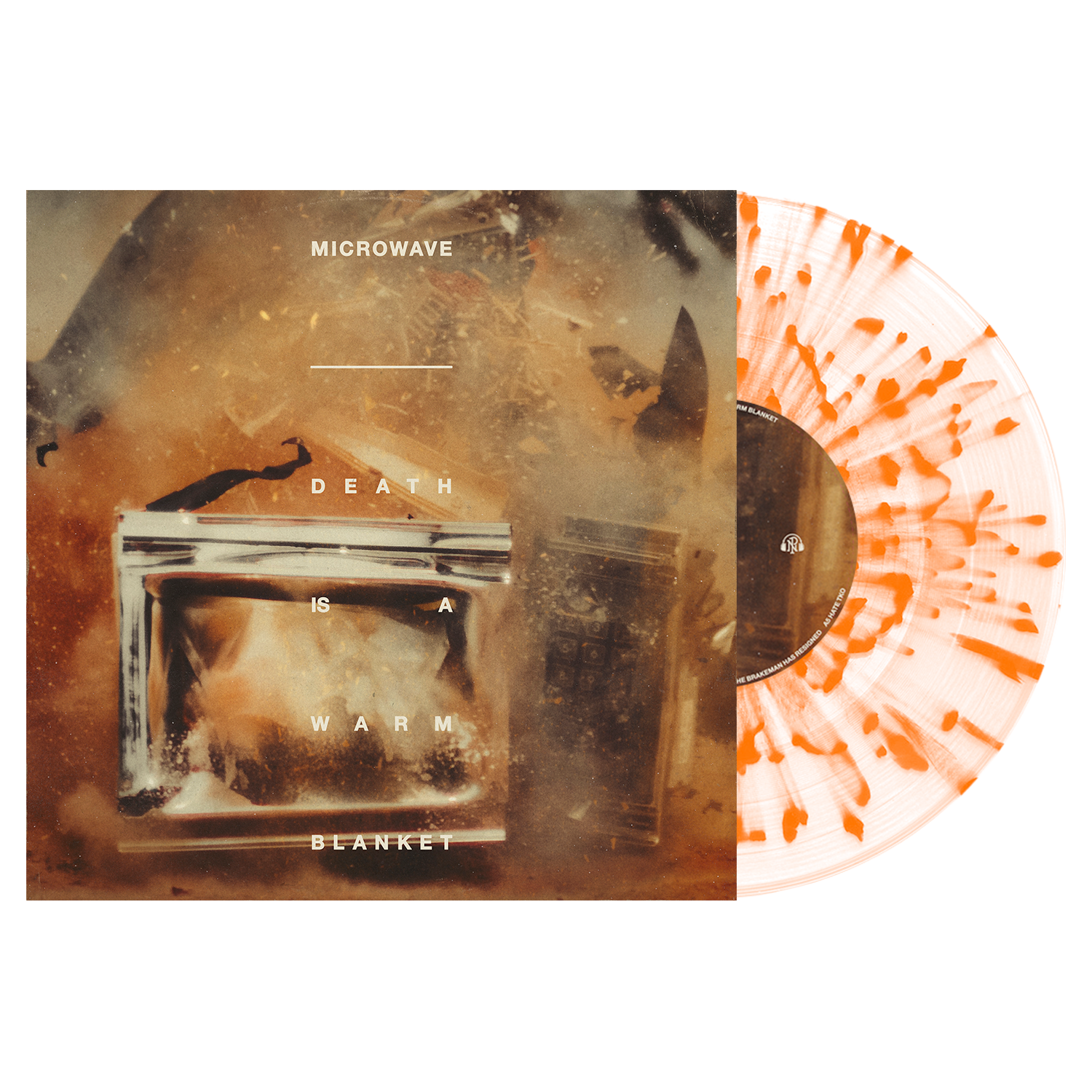 Microwave 'Death Is A Warm Blanket' Various 1 LP Clear w/ Heavy Orange Splatter