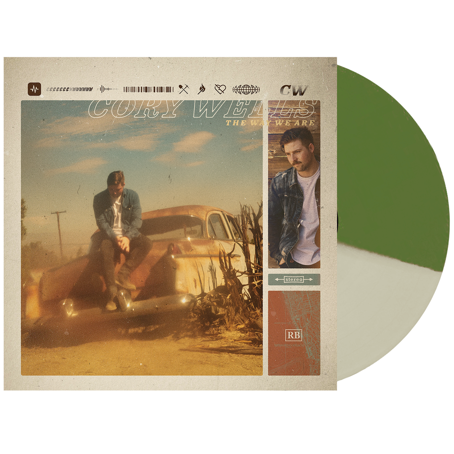 Cory Wells 'The Way We Are' LP Various 1 (Half Olive Green / Half Bone)