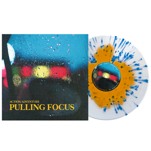 Action/Adventure - Pulling Focus Various – Orange Crush in Clear with Heavy Cyan Blue splatter