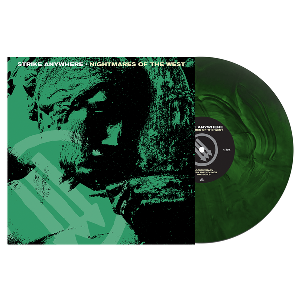 Strike Anywhere 'Nightmares of the West' LP (Various - Swamp Green and Doublemint Galaxy) + Black Hoodie Bundle